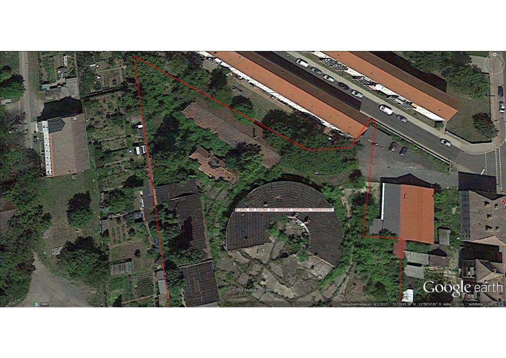 Luftbild mit Grenzen